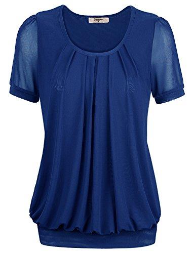 Women T-shirts,Timeson Women Comfortable Round Neck Short Sleeve T-Shirt X-Large Blue