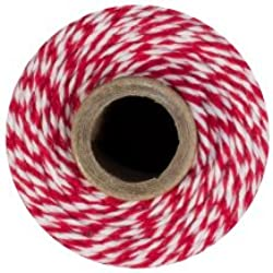 Bakers Twine - 240 Yards (Red & White)
