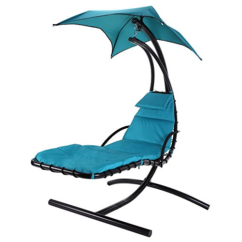 Palm Springs Outdoor Hanging Chair Recliner Swing Air Chaise Longue (Teal)