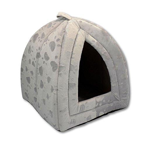 luxury-pet-igloo-dog-cat-soft-comfy-house-bed-igloo-grey