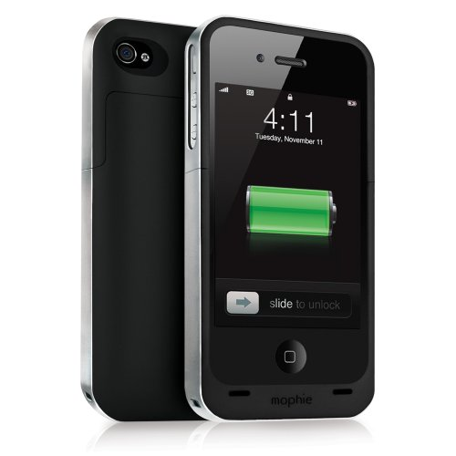 picture Mophie Juice Pack Air Case and Rechargeable Battery (Black, Verizon and AT&T iPhone 4)