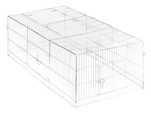 Artikelbild: Trixie 62452 Freilaufgehege mit Abdeckung, verzinkt, 216 × 65 × 116 cm