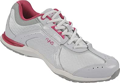 Ryka Women's Transition White/Zuma Pink/Chrome Silver 5 M US