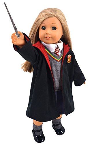 ebuddy-hermione-granger-inspired-doll-clothes-shoes-for-american-girl-dolls-8pc-hogwarts-like-school