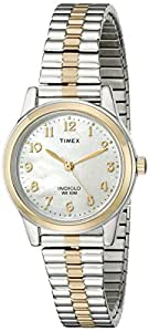 Timex® Women's Classic Two-Tone Expansion Band Watch #T2M828