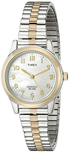 timex-classic-womens-t2m828-quartz-watch-with-gold-dial-analogue-display-and-multicolour-stainless-s