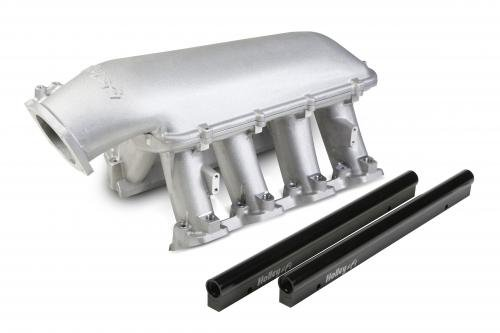 LS1 Crate Engine Holley 300-116 EFI Hi-Ram Intake Manifold with 1 x 92 mm GM LS Throttle Body
