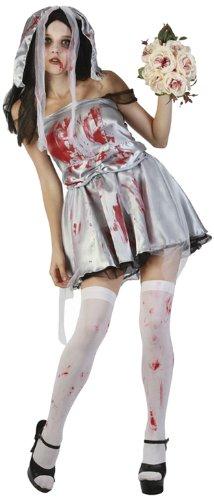 Boland 79013 - Erwachsenenkostüm Zombie Braut mit Kopfschmuck, Größe M