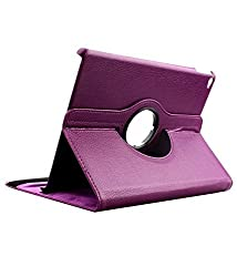 TGK 360 Degree Rotating Leather Case Cover Stand For iPad Air 2, iPad Air 6 - Purple