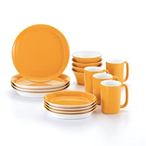 Rachael Ray Dinnerware Round and Square 16-Piece Dinnerware Set