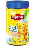 Lipton  Iced Tea Mix, Diet Peach 2.9 oz ,  ( Pack  of  4 )