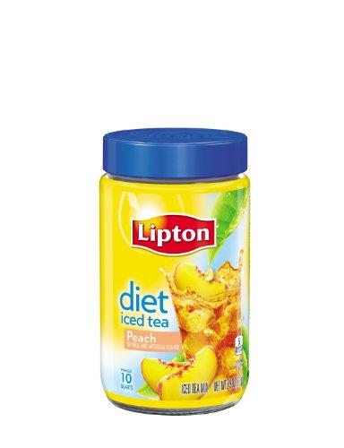 Lipton Iced Tea Mix, Diet Peach 10 Qt, 4 Count