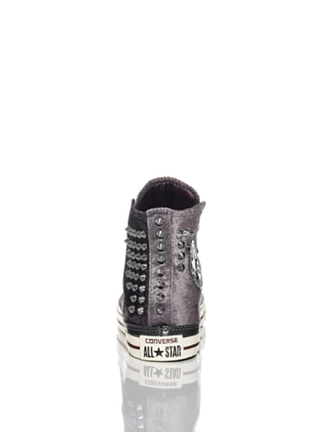 c182354dcf27 ... Converse Unisex Chuck Taylor All Star Hi Velvet Stud Spike Shoes Grey  Size 7 ...