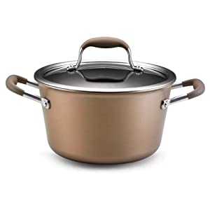 Anolon Advanced Bronze Hard Anodized Nonstick 4.5-Quart Tapered Stockpot by Anolon