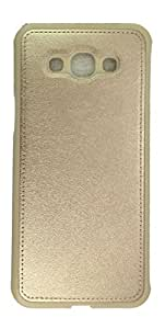 Sun Mobisys™; Samsung Galaxy J1 Ace Back Cover; Leather Finish Premium Back Cover Case for Samsung Galaxy J1 Ace Gold