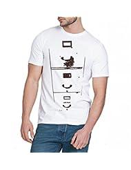 Chillum Men's Cotton T-shirt White - B00R9ER4Q8