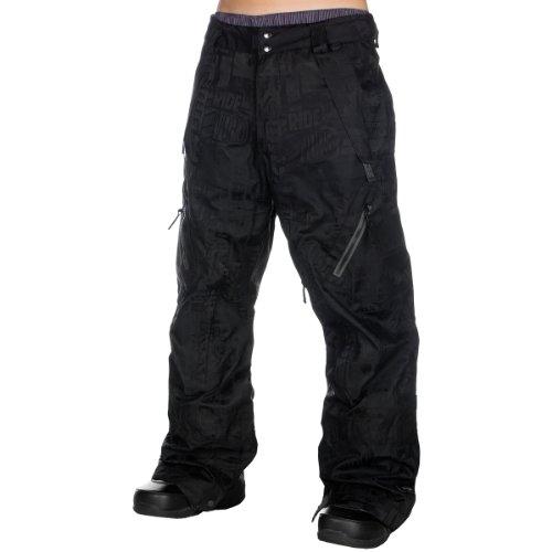 Herren Snowboard Hose Ride Harbor Shell Pant black jacquard S