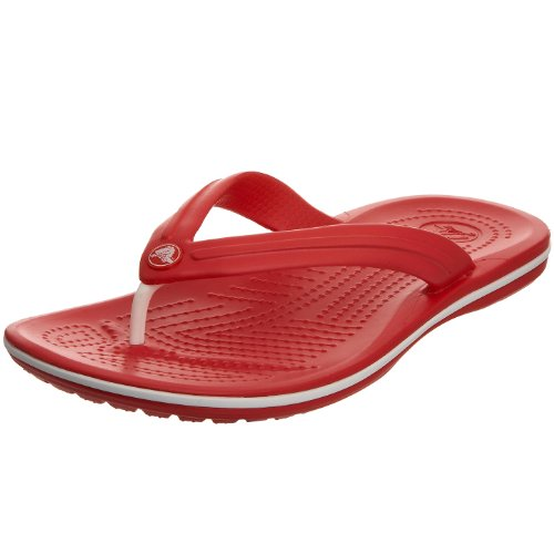 crocs Unisex Crocband Flip Flop,Red,Men's 6 M/Women's 8 M