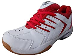 Port Mens Red Super Spark Badminton Court Shoes(10 Ind/Uk)