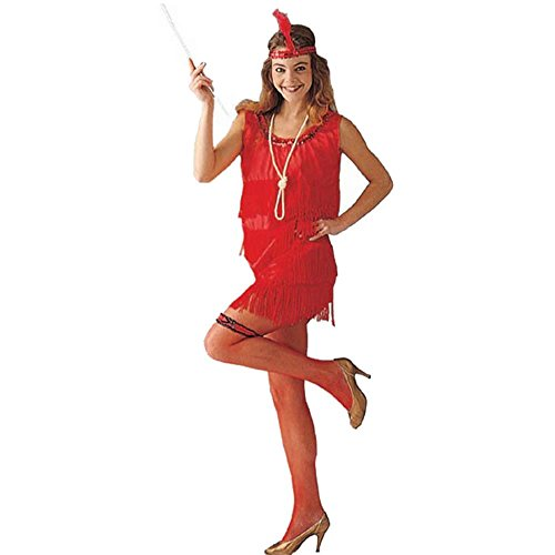 Adult Red Flapper Dress Halloween Costume (Size: Standard 8-12)