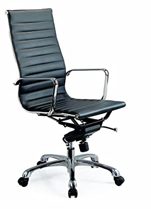 J&M Furniture Comfy High Back Black Office Chair
