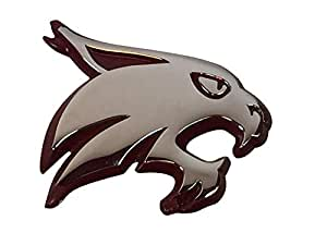 Texas State Bobcats Metal Auto Emblem With