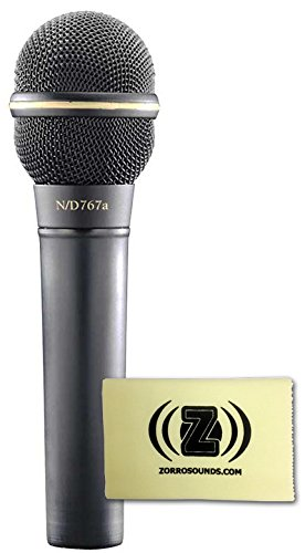 Electro-Voice N/D767A Dynamic Supercardioid Vocal Microphone Bundle With Polishing Cloth