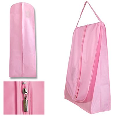Hangerworld Single Pink Wedding Dress Bridal Gown Travel Carry Cover Bag- Showerproof & Breathable 72 Inches