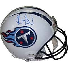 Vince Young Autographed Hand Signed Tennessee Titans Proline Helmet by Hall of Fame Memorabilia