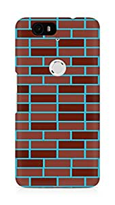 Amez designer printed 3d premium high quality back case cover for Huawei Nexus 6P (Brick Wall2)