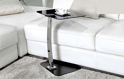U368 - Accent Side Table With Black Tinted Glass