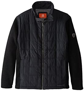 Merrell Men's Big Sky Hybrid Jacket, Black/Black Heather, Small