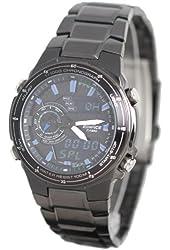 Casio Edifice Black Chrono Watch with Stainless Steel Band (EFA131BK-1AV)