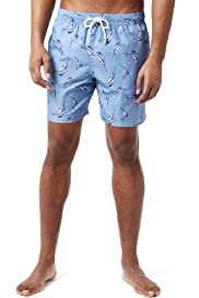 Blue Harbour Marlin Fish Print Quick Dry Swim Shorts [T28-7979B-S]