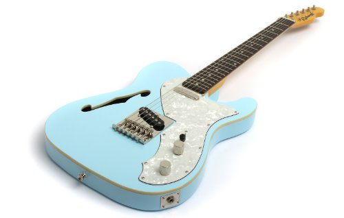 Sonic Blue Thinline Telecaster copy Electric Guitar