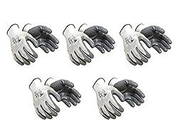 Klaxon Safety Nylon Anti cut / cut resistant hand Gloves (5 pair)