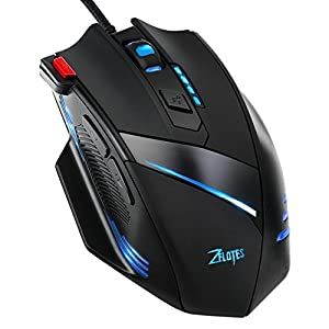 [7 RGB Modes, 7200 DPI]Wired Gaming Mouse, VicTsing Wired PC Mouse Laptop Mouse with 5 Million Times Button Life, 6 Adjustable DPI Levels, 7 Programmable Buttons, 7 Soothing LED Colors for Pro Gamer, Notebook, PC, Laptop, Computer (Black)