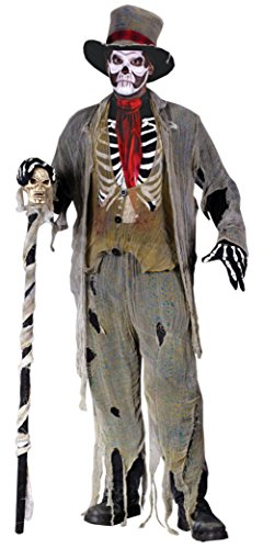 Funworld Mens Scary Skeleton Zombie Gauze Groom Fancy Halloween Costume