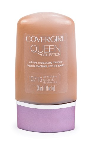 CoverGirl Queen Collection Liquid Makeup Foundation, Almond Glow 715, 1.0-Ounce Bottles (Pack of 2)