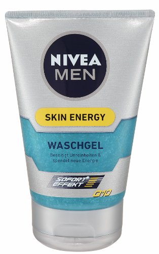 Nivea Men Skin Energy Waschgel Q10, 2er Pack (2 x 100 ml)