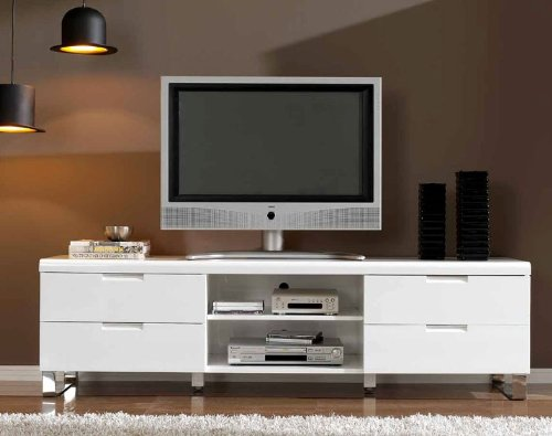 Mueble tv blanco acero TV-602