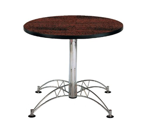 "Multi-use 29.5"" x 36"" Round Table with Chrome Plated Base"