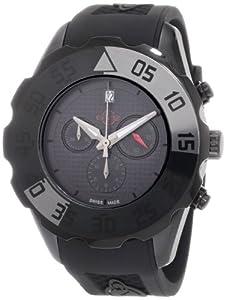GV2 Men's Parachute Chronograph Watches 3005R Black PVD