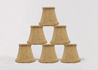 urbanest 1100459c chandelier mini lamp shades 5 inch bell clip on. Black Bedroom Furniture Sets. Home Design Ideas