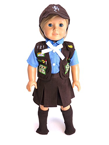 18-Inch-Doll-Clothes-Adorable-Girl-Scout-Brownie-Outfit-Fits-18-American-Girl-Dolls