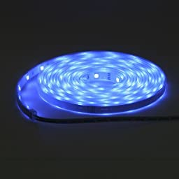 16.4 Feet 300 SMD LED Flexible Strip Waterproof, 12 Volt Blue LED Ribbon By Ledwholesalers, 2047bu