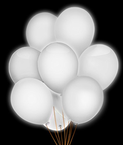 Fun Central AH950 LED 14 Inch Blinky Balloons - White
