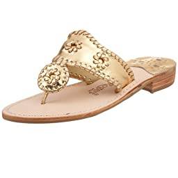 Jack Rogers Women\'s Hamptons Sandal,Gold,8 M