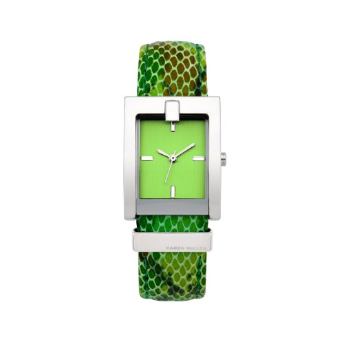 Karen Millen Green Snake Skin Ladies Watch - K110