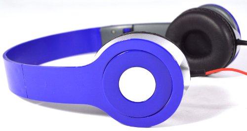Blue 3.5Mm Foldable Stereo Headphone Earphone Nice Beats Headset For Dj Psp Mp3 Mp4 Pc
